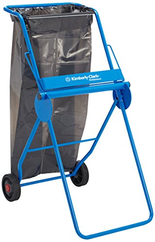 KIMBERLY-CLARK PROFESSIONAL* Mobile Stand Large Roll Wiper Dispenser (product code 6155) - Blue