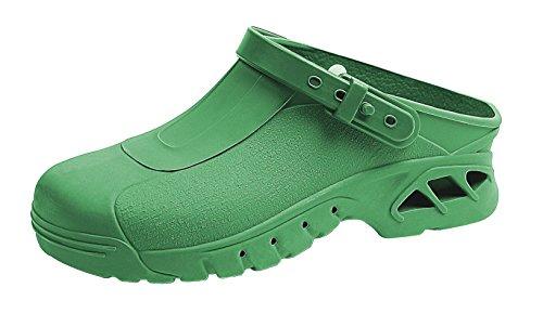 clinicfashion OP-Clog grün, autokalvierbar, für Damen und Herren, Größe 35-46 Grün