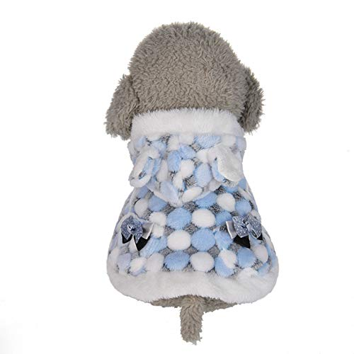 CplaplI Hübsche Haustierkleidung, für den Winter, warm, Plüsch, mit Kapuze, für ()