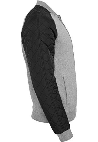 URBAN CLASSICS - Diamond Nylon Sweatjacket (grey-black) Grey-Black