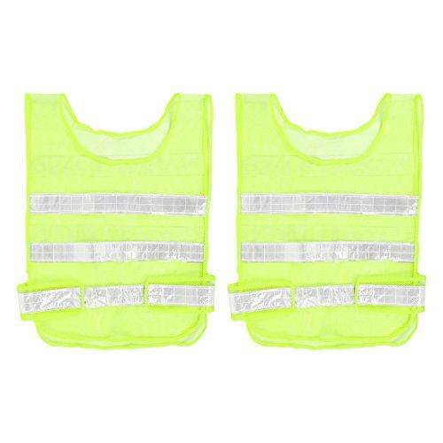 Reflecterende Meshy stijl Traffic Safety Vest 57cm x 40cm 2 stuks Beveiliging 2 Traffic Safety Vest