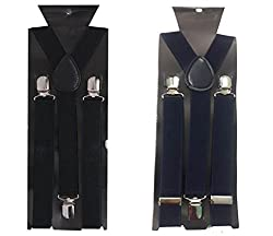 Atyourdoor Y- Back Suspenders for Men(BlackNavyBluesus2)