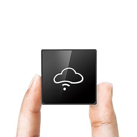 Popwinds Lecteur de Cartes USB 2.0, Wifi Intelligent,Batterie Externe 6000mAh - Le Nuage Support de Disque SD,SDHC,SDXC,MS,Charge MicroSD, CF Et Charge Les T-Flash Carte Mémoire Numérique (Noir)