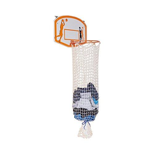 Unbekannt TRI Basketball-Wäschekorb, Wäschesammler, Wäschesack, Wäschetonne, mit Befestigungsmaterial Kunststoff, 80 cm, 45 x 30 cm, Ø 24 cm