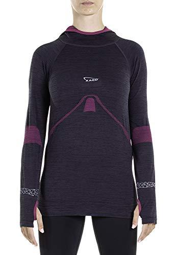 Xaed, maglietta da corsa, da donna, colore nero, taglia s
