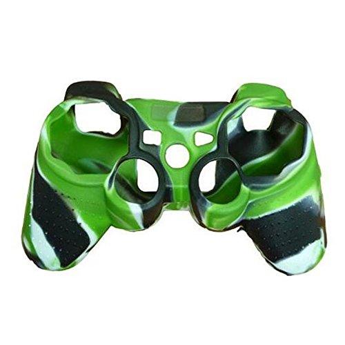 Silikon Haut Grip Schutzhülle für Sony Playstation PS3Remote Controller, skitic Full Body Cover Bumper Schutz für PS3Game-Controller Griff-Blau