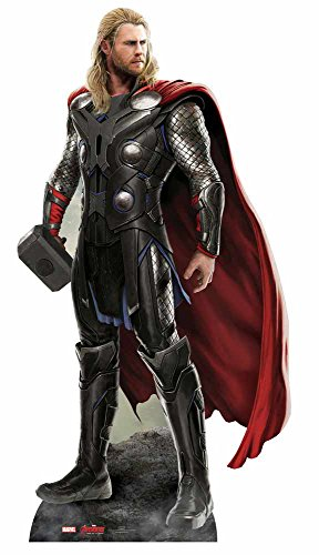 Partyrama Figura de cartón a tamaño natural de Thor de Los Vengadores: La Era de Ultrón,187cm