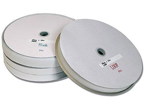 25mm x 25m Hook and Loop Tape - Loops White