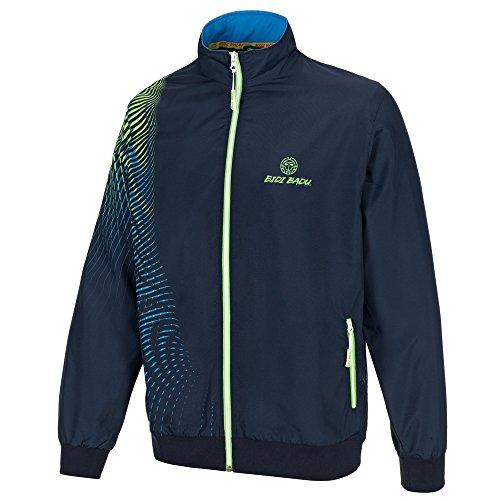 BIDI BADU Herren Tennis Trainingsanzug - Laurin Tech Tracksuit - darkblue/Blue/Neongreen (FA18), Größe:M