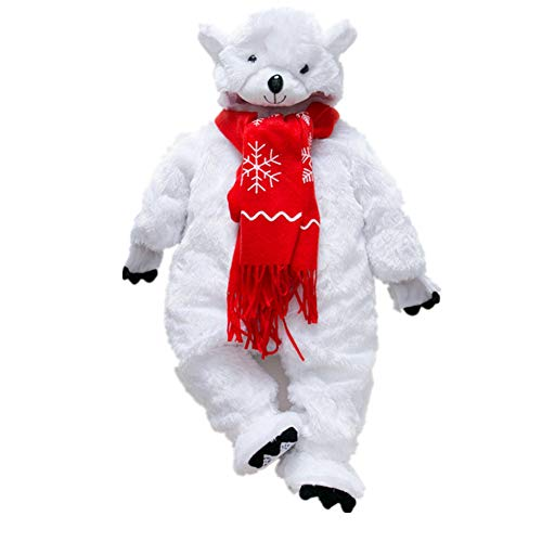 Sweetheart -LMM Neugeborenes Baby Hooded Fleece Strampler, Jungen Mädchen Pyjamas Kinder Kleinkinder Pjs Flanell Overall Halloween Cosplay Kostüm (66 cm)