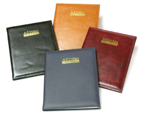 tallon-large-xl-padded-address-book-black-brown-tan-blue