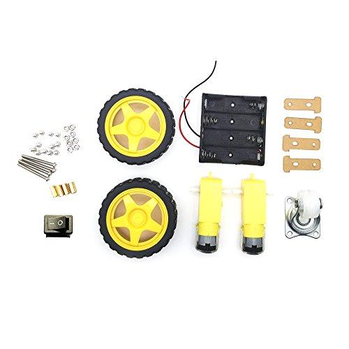 AptoFun 2WD Motor Smart Car - Chasis para Arduino (con 2 Motores y Caja de batería)