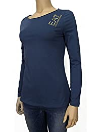 Emporio Armani - T-shirt - Femme bleu bleu clair