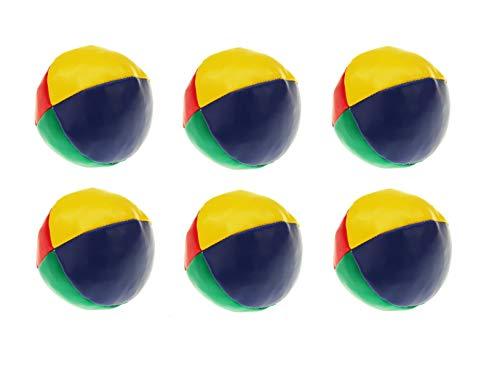 Sonnenscheinschuhe® 6 teiliges Jonglierball Set Kickball Ball Jonglierbälle Jonglieren Lernen Zirkus