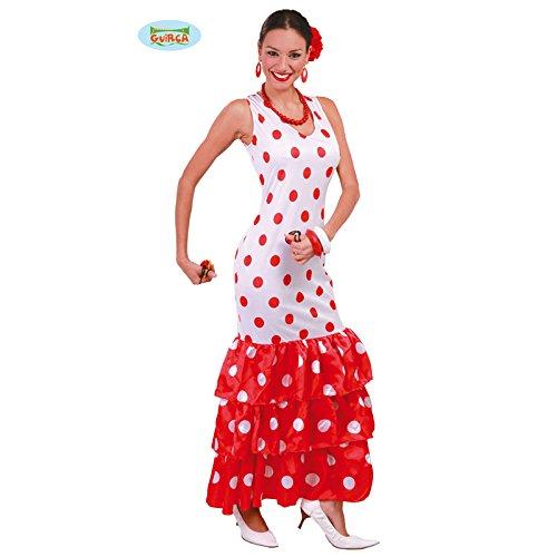 Imagen de disfraz de sevillana blanca para mujer adulta