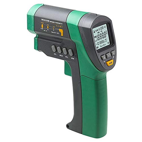 Jklnm Infrarot-Thermometer Temperaturmessgerät Mit LCD Beleuchtung Anzeige Digital Berührungslose Celsius Fahrenheit Wählbar IR Thermometer Pyrometer Daten Speicherfür Haushalt/Handwerk/Hobby