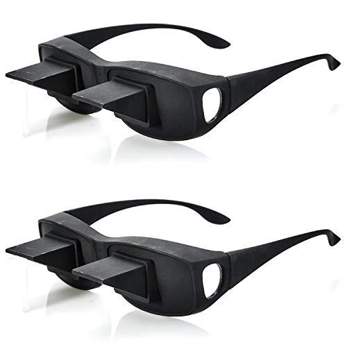 2er Set Fernseh Lese Winkelbrille 90 Grad Blick   Prismabrille Fernsehbrille   Umlenkende TV Bett Prisma Brille Lesebrille   Zum Lesen Im Liegen