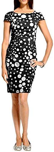 Heine - Best Connections Trendmäßig genau Kleid mit Punkten, schwarz-weiß (36)
