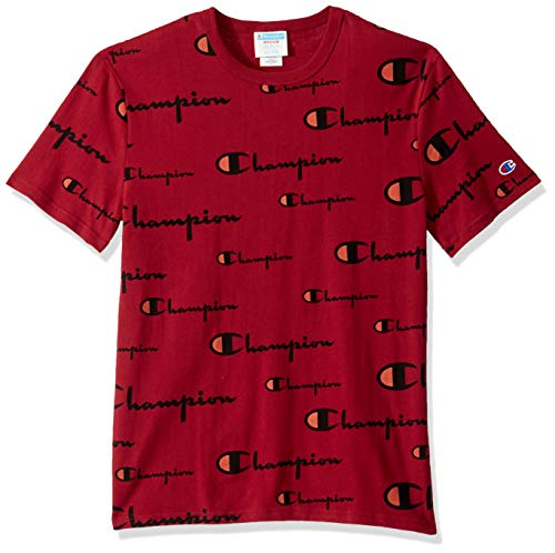 Champion Life Herren Heritage Tee T-Shirt, Multi Scale Script/Cherry Pie, XS -