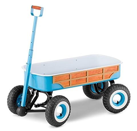 Schwinn 4x4 Quad Steer Woody Wagon Vehicle, Teal by Schwinn