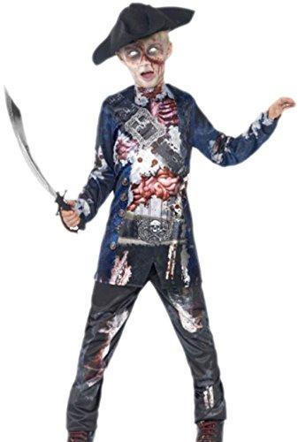 erdbeerloft - Jungen Zombie Pirat, Seeräuber Kostüm, Halloween, 122, (Pirat Kostüme Kind Geisterschiff)
