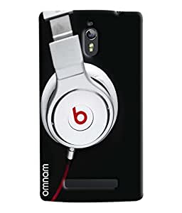 Omnam Beats Headphones Printed Designer Back Cover Case For Oppo Find 7