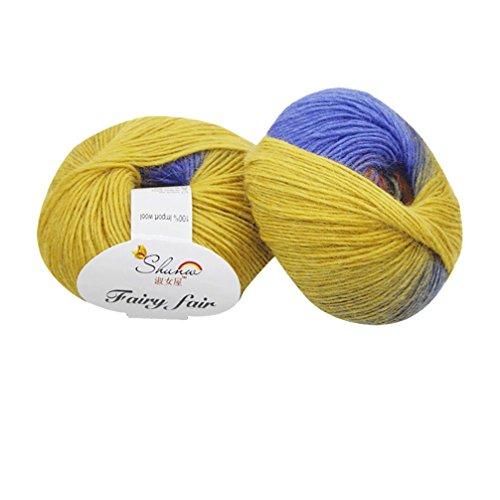 squarex 150g geschoben handgeflochtenem Rainbow Colorful Stricken Noten Wolle-Mischgewebe Garn, Wollgemisch, g, AS Show (Stricken Noten)