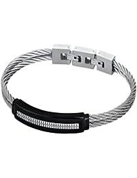 336a4631849e Lotus – Pulsera para hombre doble cable de acero y carbono Lotus Style  LS1738 – 2