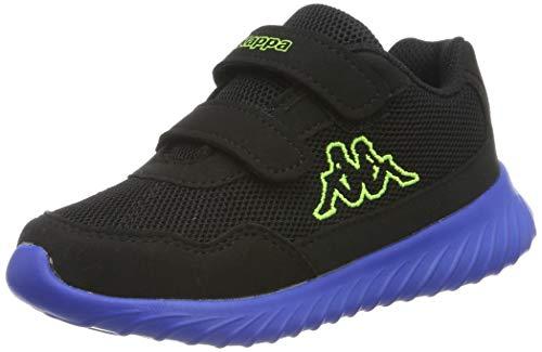 Kappa Unisex-Kinder Cracker II BC Kids Sneaker, Schwarz (Black/Blue 1160), 28 EU