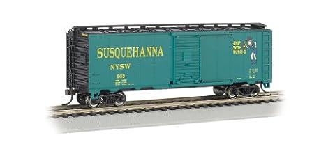 Bachmann Industries Aar 40' Steel Box Car New York, Susquehanna and Western (Suzy Q) Train Car, N Scale