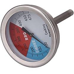 Demiawaking Theermometer für Räucherofen BBQ Smoker Grill Räucherthermometer bis zu 475°