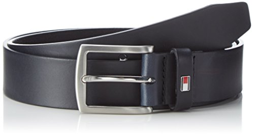 Tommy Hilfiger Herren Gürtel New Denton Belt 3.5, Blau (Midnight 001), 105 cm