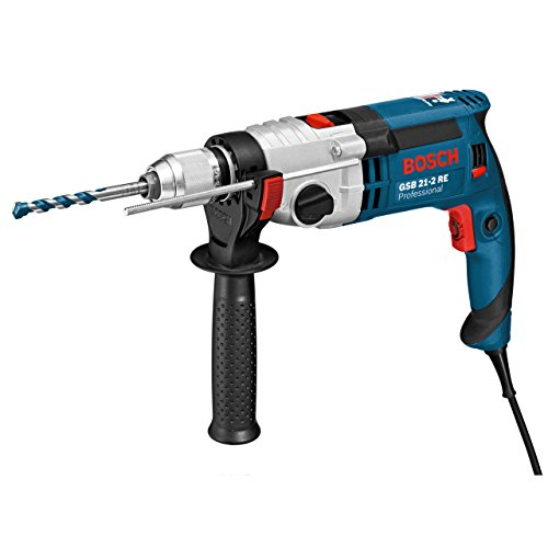 Bosch Professional 060119C500 Perceuse à percussion GSB 21-2 RE, 1100 W Coffret, Bleu