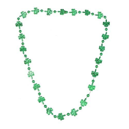 Kostüm Frauen's Irish - Amosfun St. Patrick Day Kleeblatt Kleeblatt Halskette Irish Party Kostüm Zubehör für Frau Dame Weibliche 6 stücke (Grün)