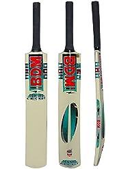 BDM Cachemira Willow Wood Tenis bate de cricket con lleva la caja del bastón de la manija tamaños adultos - Elija Peso