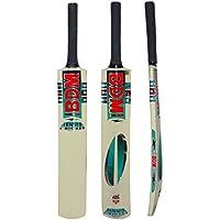 Schl/äger und Tennisball der Gr/ö/ße 5 f/ür Kinder Gr/ö/ße 5 ideal f/ür Drau/ßen 3/Stumps und Bails laeto Toys Junior-Cricket-Set inkl