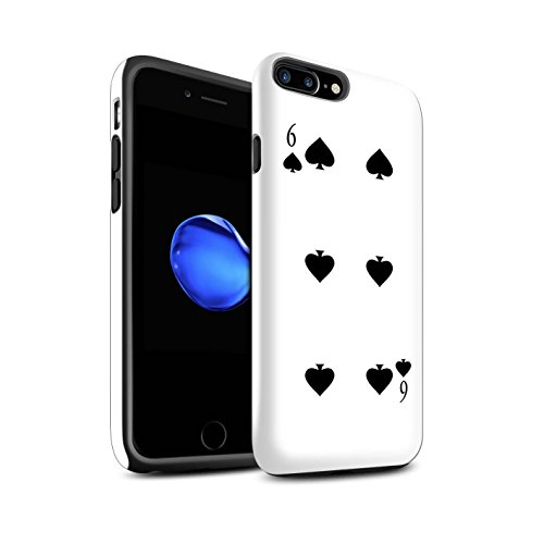 Coque Brillant Robuste Antichoc de STUFF4 / Coque pour Apple iPhone 4/4S / Joker Design / Cartes à Jouer Collection 6 de Pique