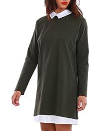 La Modeuse - Robe chemise courte manches longues