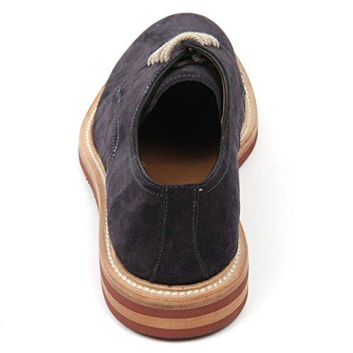 C3788 scarpa classica uomo ALTIERI MILANO scarpe blu scuro shoe man Blu scuro