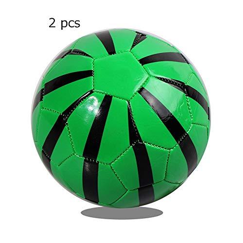 LanglebigRutschfest Fußball Spielzeug Für Kinder Kleinkinder Mädchen Jungen Outdoor Sport Alter 1-4 Jahre Alt Set Von 2 Mini Fußball Offizielle Größe 2 Weiche Bälle langlebigRutschfest -