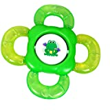 Gurukripa Baby Products Presents BPA-Free Non Toxic Toddler And Infant Baby Silicone Tooth Gel Sooter Teether Keys Ring Teething Toys For Baby Rattle Toy Textured Water Filled Make Relax For Baby (Green) - B0763P4XRP
