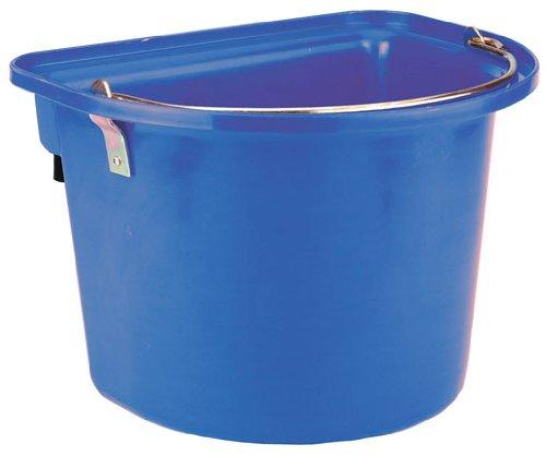 Kerbl 32873 Turnier-Futterkrippe blau mit Einhängebügel und Tragegriff