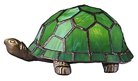 Hand Crafted Green Glass Tortoise Tiffany Lamp by Haysom Interiors