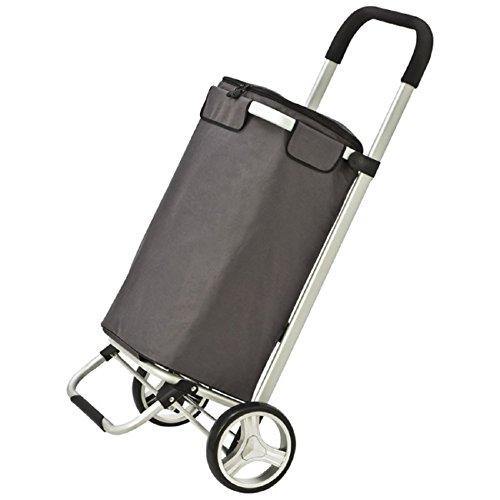 faltbarer Luxus-Einkaufstrolley mit integriertem Kühlfach - grau von sinsey