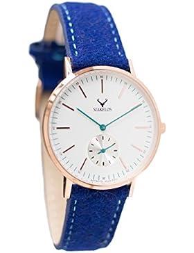Makelos - Rød ROYAL - Armbanduhr mit wechselbarem Armband Gehäuse aus poliertem Edelstahl Ø 40 mm - roségold Japanisches...
