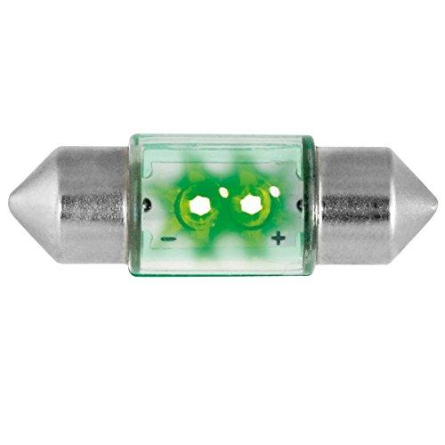 Dectane s31g Lampe tubulaire LED 31 mm 2 LED - Vert