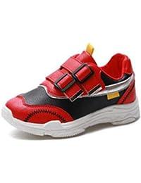 Scarpe Sportive da Corsa per Bambini con Doppio Velcro Ragazze da Bambino  Scarpe da Ginnastica Nere 929687b766a