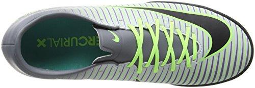 Nike Herren Mercurialx Victory Vi Tf Fußball-Trainingsschuhe Silber (Pure platinum/black-ghost green)