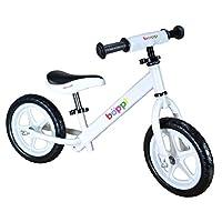 Bopster White Childrens Metal Balance Bike