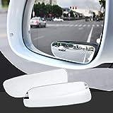 WEIWEICARE Spiegel, quadratisch, 360° drehbar, Verstellbarer Weitwinkel-Rückspiegel, HD-Glas, konvexer Seitenspiegel für alle Universal-Fahrzeuge Auto (2 Stück)